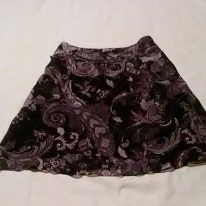 Ann Taylor size 4P paisley flared skirt
